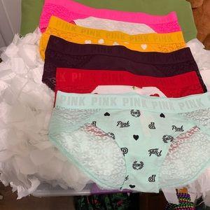 Bundle of 5 pink by Victoria secrets panties